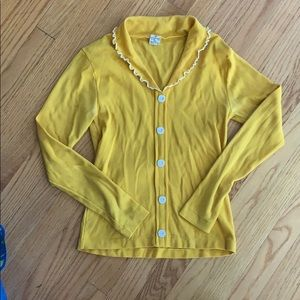 Vintage yellow 60s long sleeve shirt